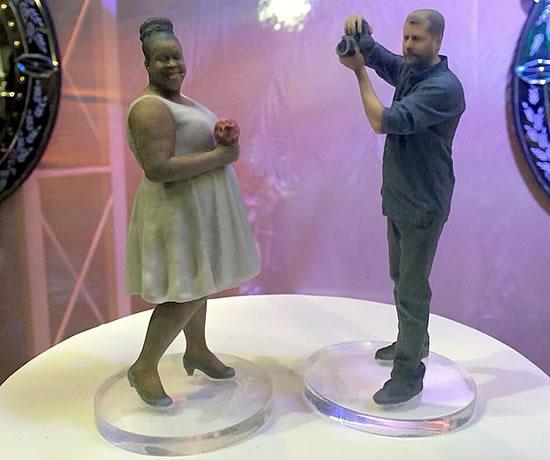 Cacau e Janderson impressos em 3D