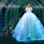 Vestido de casamento com luzes de LED