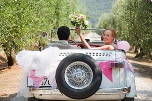 Aluguel de carros para noivos