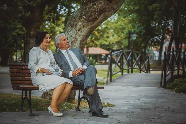 Comemorando bodas do casamento