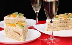 Cardápio de Bolo e Champagne