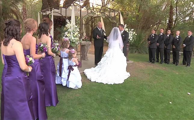 Cerimônia de casamento estilo americano