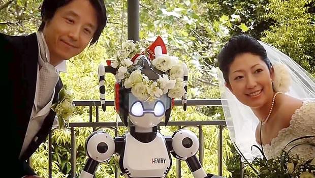 Robô celebra casamento High Tech no Japão
