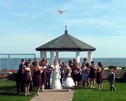 Drone filma casamento high tech