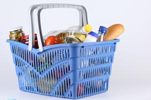 Primeira compra de supermercado do casal