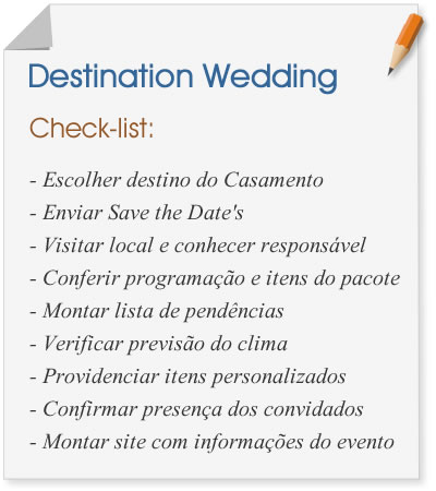 Destination Wedding: check list
