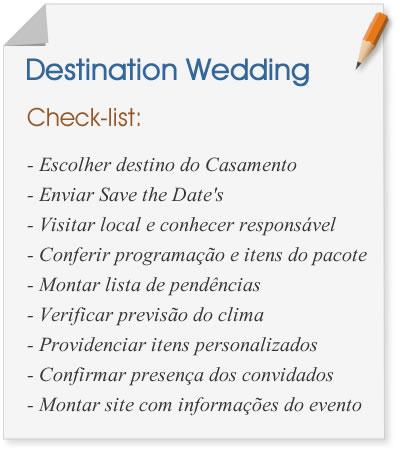 Destination Wedding: check list