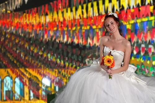 Noiva e casamento caipira