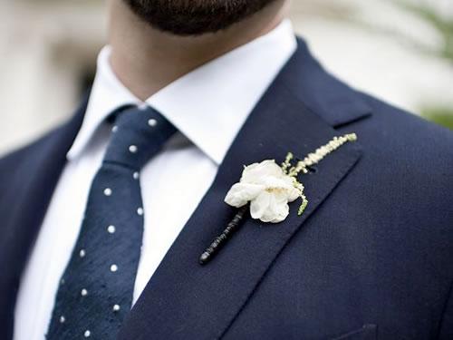 Flor na lapela do noivo