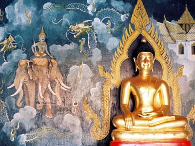 Cerimônia budista de casamento