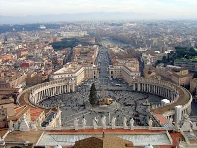 Vista de Roma, capital da Itália