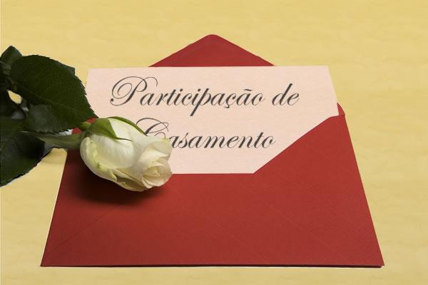 Cartão de Participação de Casamento