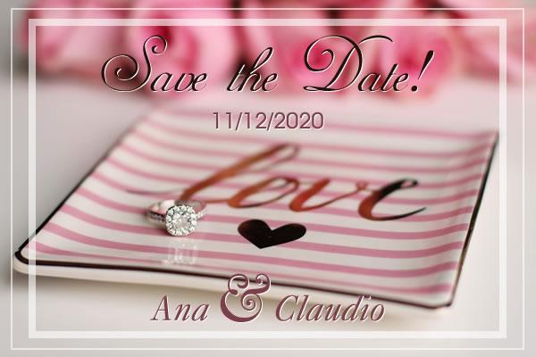Save the Date: Pré-convite de Casamento
