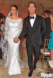 Casamento de Camila Alves e Matthew McConaughy. Foto: Reprodução Revista People