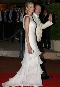 Vestido de noiva de Charlene Wittstock