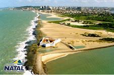 Vista aérea do litoral de Natal/RN