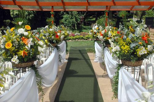 Tapete da noiva tradicional verde